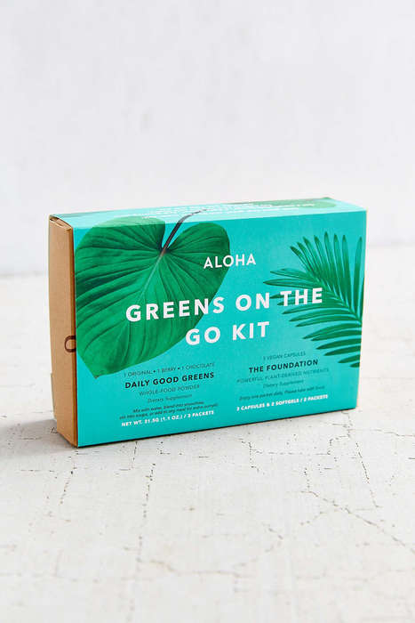 Daily Vitamin Kits - The Aloha Greens on the Go Kit Boosts Energy and Mood
