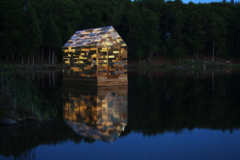 Translucent Floating Huts