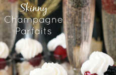 Healthy Champagne Parfaits - Beyond Frosting's Skinny Champagne Parfait is the Perfect Party Dessert