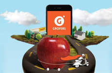 Speedy Grocery Delivery Apps - The Grofer App Shops & Delivers Groceries in 90 Minutes or Less