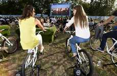 Bike-Powered Outdoor Cinemas