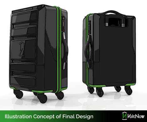 Wireless Charging Suitcases