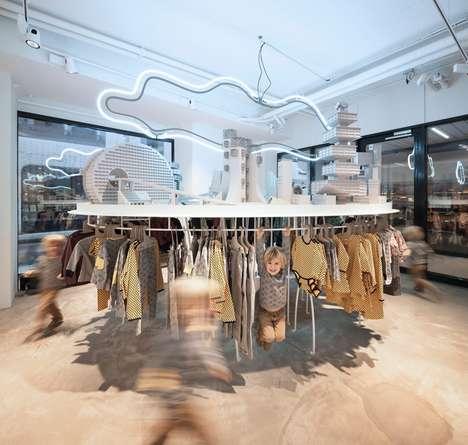Playground-Inspired Clothing Racks