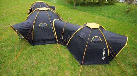 Connective Modular Tents - The POD Tents Help Connect Tents to Form Camping Compounds