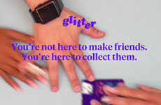 Custom Card-Trading Apps - Collect and Trade Stylized Online Business Cards with 'Glitter'