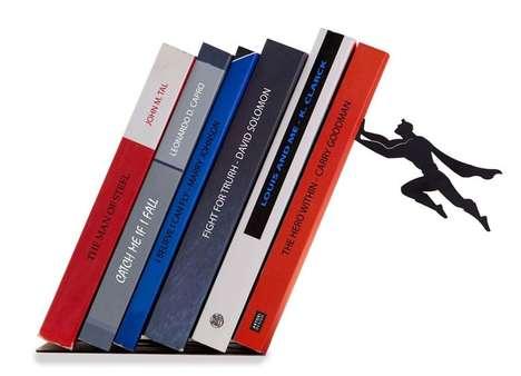 Flying Superhero Bookshelves