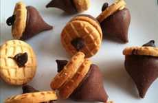 Acorn-Inspired Desserts - These Easy Acorn Treats are Made from Just Three Ingreidents
