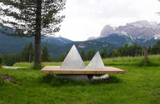 Mountain-Mimicking Benches