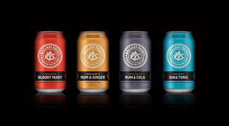 Conveniently Canned Cocktails - The Ballast Point Brewery Packaged Four Common Cocktails into Cans