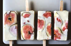 Fig Popsicle Recipes - The Summery Fig and Ricotta Cheesecake Popsicle is an Acquired Taste