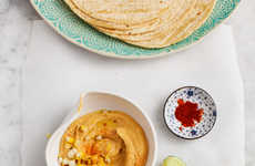 Smoky Corn Hummus Recipes - This Chipotle and Sweet Corn Homemade Hummus Goes With Tostadas