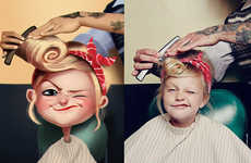 Cartoonish Children Portraits - Artist Julio Cesar Digitally Recreates Images into Cartoon Personas