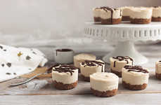 Dairy-Free Mini Cheesecakes - The Dairy-Free Cheesecake Recipe are Bite-Sized Sweet Snacks
