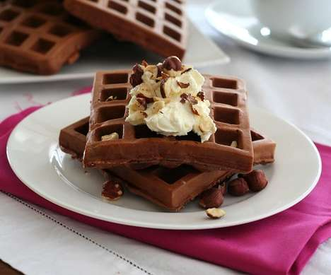 Chocolate Protein Waffles - This Nutritious Breakfast Option Features a Variety of Health Benefits