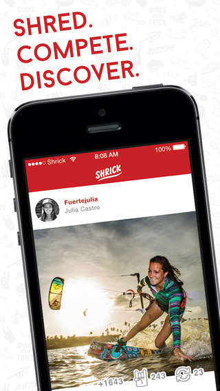 Action Sport Apps - Shrick is a Social Networking App for Extreme Sports Enthusiasts