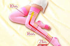 Leg Slimming Socks - The Slimwalk Overnight Socks are Designed to Shape a Wearer's Legs