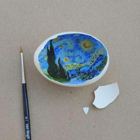 Classical Egg Shell Art