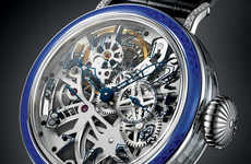 Sleek Skeletonized Timepieces