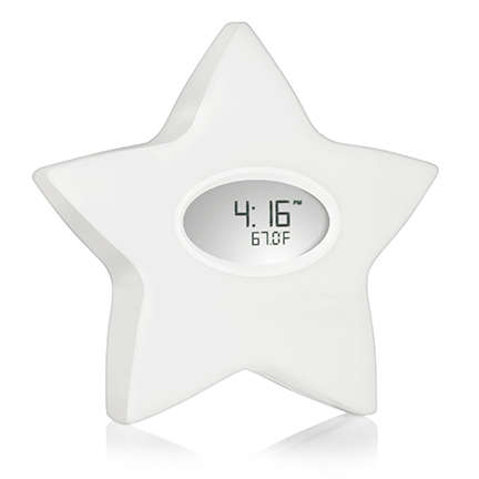 Multitasking Nursery Accessories - The Serenity Star is a Hybrid Night Light, Sleep Aid and Clock