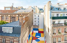 Vibrant Basketball Courts - This Multicoloured Basketball Court is Hidden By Huge Buildings in Paris