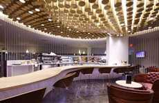 Gratifying Airport Lounge Spas - The Virgin Atlantic JFK Lounge is in Unmistakably NYC Style