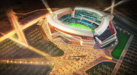 Interactive Stadium Facades - This New Football Stadium Will Have an Outdoor Kinetic Screen