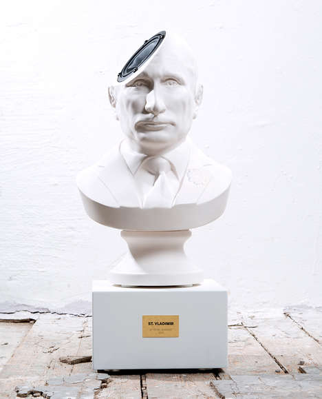 Political Music Speakers - The 'Sound of Power' Speaker Design is Shaped Like Vladimir Putin's Head