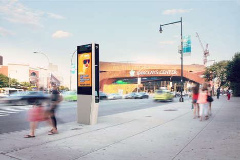 Wi-Fi Phone Booths - LinkNYC is Replacing Obsolete Phone Booths with Free Wi-Fi Towers