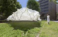 Undulating Carbon Pavilions