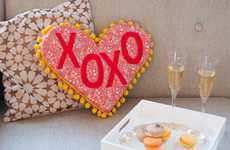 Romantic Phrase Pillows - This Valentine's Day Decor Accessory is Easy and Inexpensive to Make