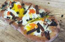 Lavish Breakfast Pizzas - Pizza Goon's Latest Recipe is a Schiacciata with Mozza-egg and Caviar