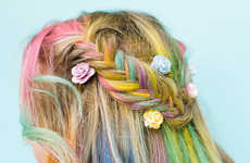 Psychedelic Hair DIYs - This Festival Hairstyle Marries Rainbow Dyes and Feminine Braids