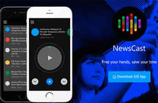 Audible News Apps - 'NewsCast' is a Handy News-Reading App That Dictates Breaking Stories