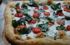 Healthy Yogurt Pizzas - This Artisan Pizza Recipe Subs in Yogurt For Added Nutritional Benefits