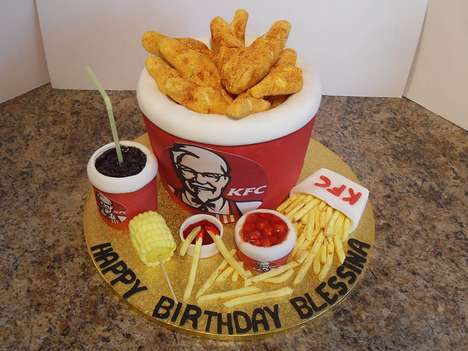 Deceptive Take-Out Cakes - Jayne McCool's Fast Food Cakes Resemble Takeaway Meals From Brands