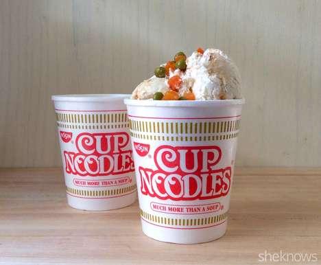 Homemade Noodle Ice Cream