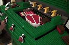 Life-Sized LEGO Barbecues - The LEGO Duplo Barbecue Features Toy Block Steaks and Sausages
