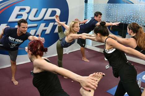 Branded Yoga Events - Bud Light Hosted a Celebrity Yoga Class with Drew and Nick of 98 Degrees