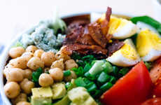 Vegetarian Cobb Salads - This Garden Salad is Made Meatless With the Addition of Coconut Bacon
