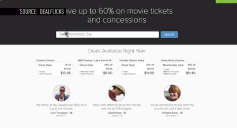 Discount Cinema Apps - The 'DealFlix' App Offers Discounted Movie Seats and Concession Prices