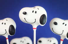 Canine-Inspired Cake Pops - These Snoopy Cake Pops are Perfect for Celebrating the Peanuts Movie
