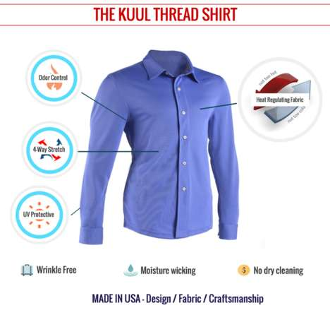 Self-Cooling Dress Shirts - The 'Khuul Thread Shirt' Helps Control the Climate Around Your Skin