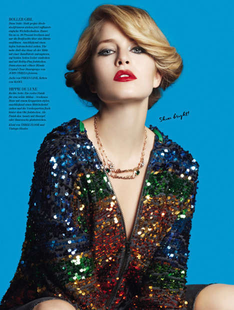 Disco Beauty Editorials - Diva Magazine's 'Seventies Style' Exclusive Highlights Retro Beauty Looks