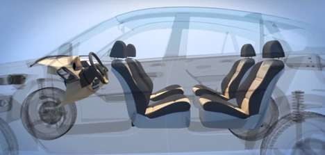 Transformable Lounge Cars - Ford's Living Room on Wheels Lets You Lounge in Your Self-Driving Car