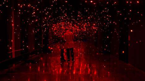 Firefly-Mimicking Light Displays