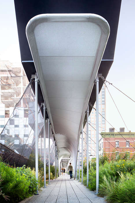 Protective Curving Canopies