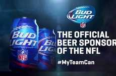 Football-Branded Beer Cans - These Bud Light Beer Cans Promote the NFL with Team-Specific Logos