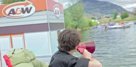 Floating Fast Food Barges - A&W Creates a Floating Restaurant with a Water Accessible Drive Thru