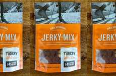 Poultry Jerky Snacks - This Healthy Savory Treat is Made with Raw Nuts, Turkey Meat and Berries