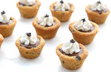 DIY Cookie Pudding Cups - These Chocolate Chip Cookie Pudding Cups are a Healthy Dessert Alternative